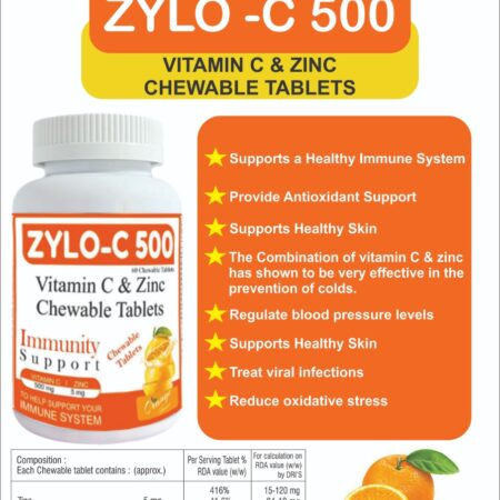 vitamic c and zinc chewable tablets